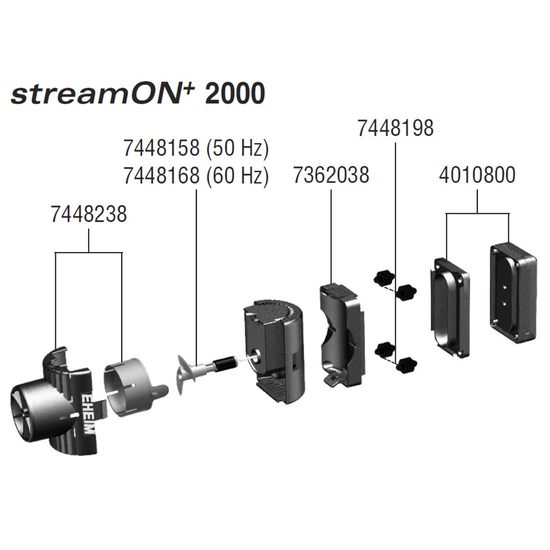 EHEIM Pièces détachées pour pompe de brassage StreamON+ 2000 (1080)