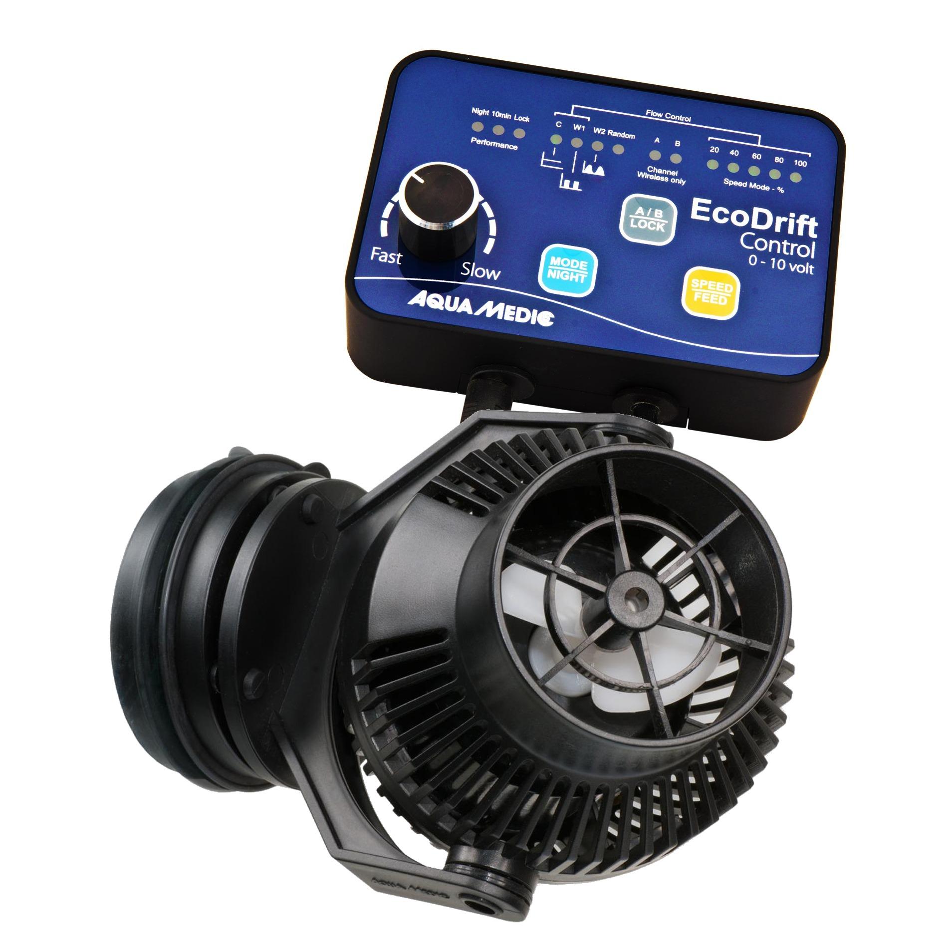 AQUA MEDIC ECODrift 4.1 pompe de brassage 800 à 4000 L/h avec contrôleur électronique pour aquarium jusqu\' à 300L