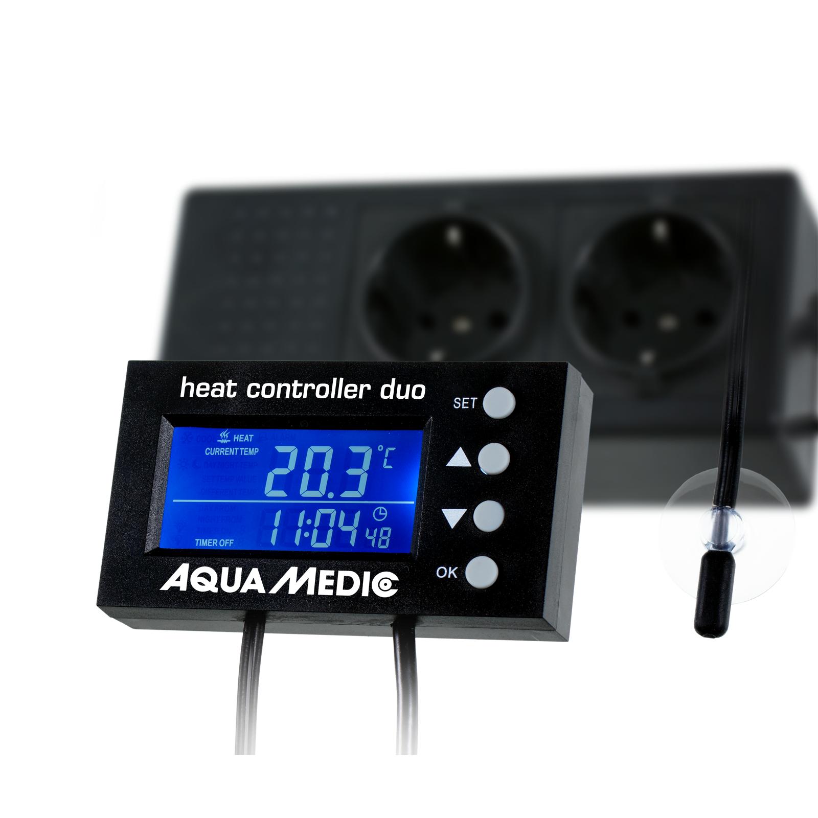 AQUA MEDIC Heat Controller Duo contrôleur numérique de température avec double prise pour câble chauffant et chauffage