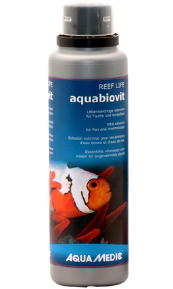 AQUA MEDIC aquabiovit 250 ml solution multivitaminée pour poissons et invertébrés d\'eau douce et d\'eau de mer