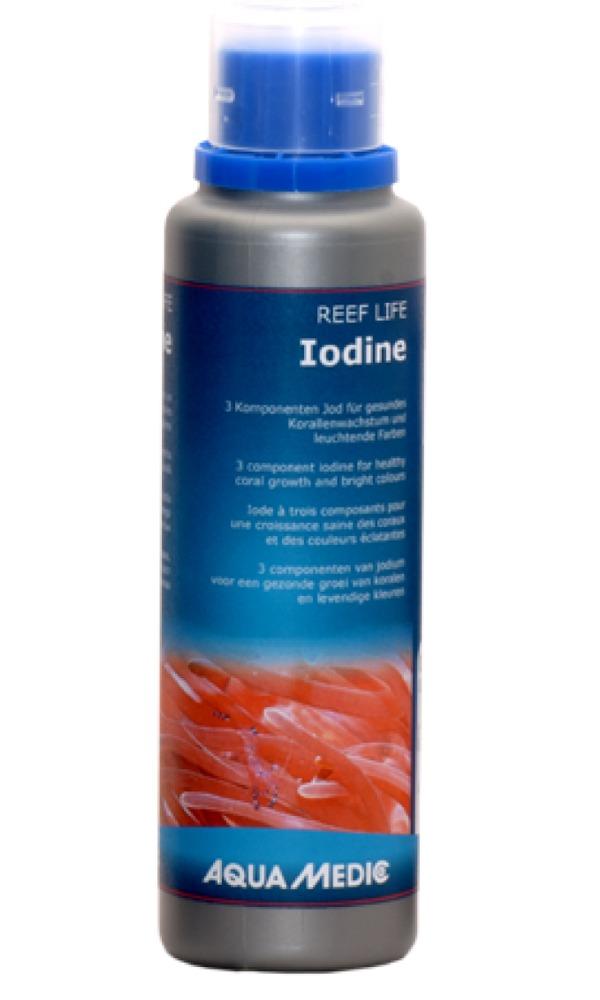 AQUA MEDIC REEF LIFE Iodine 250 ml iode tri-composants pour la croissance des coraux et des couleurs éclatantes