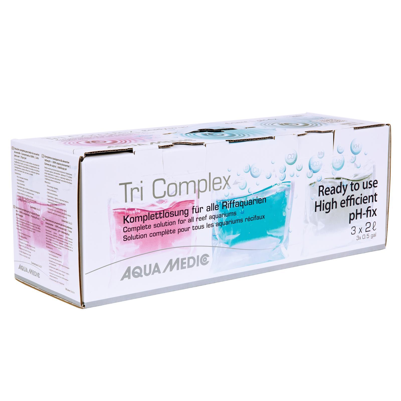 AQUA MEDIC Tri Complex 3 x 2L solution complète pour mode Balling en aquarium récifal