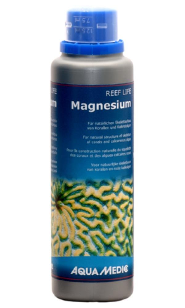 AQUA MEDIC REEF LIFE Magnesium 250 ml complément de Magnésium pour la construction naturelles du squelette des coraux durs et coralline