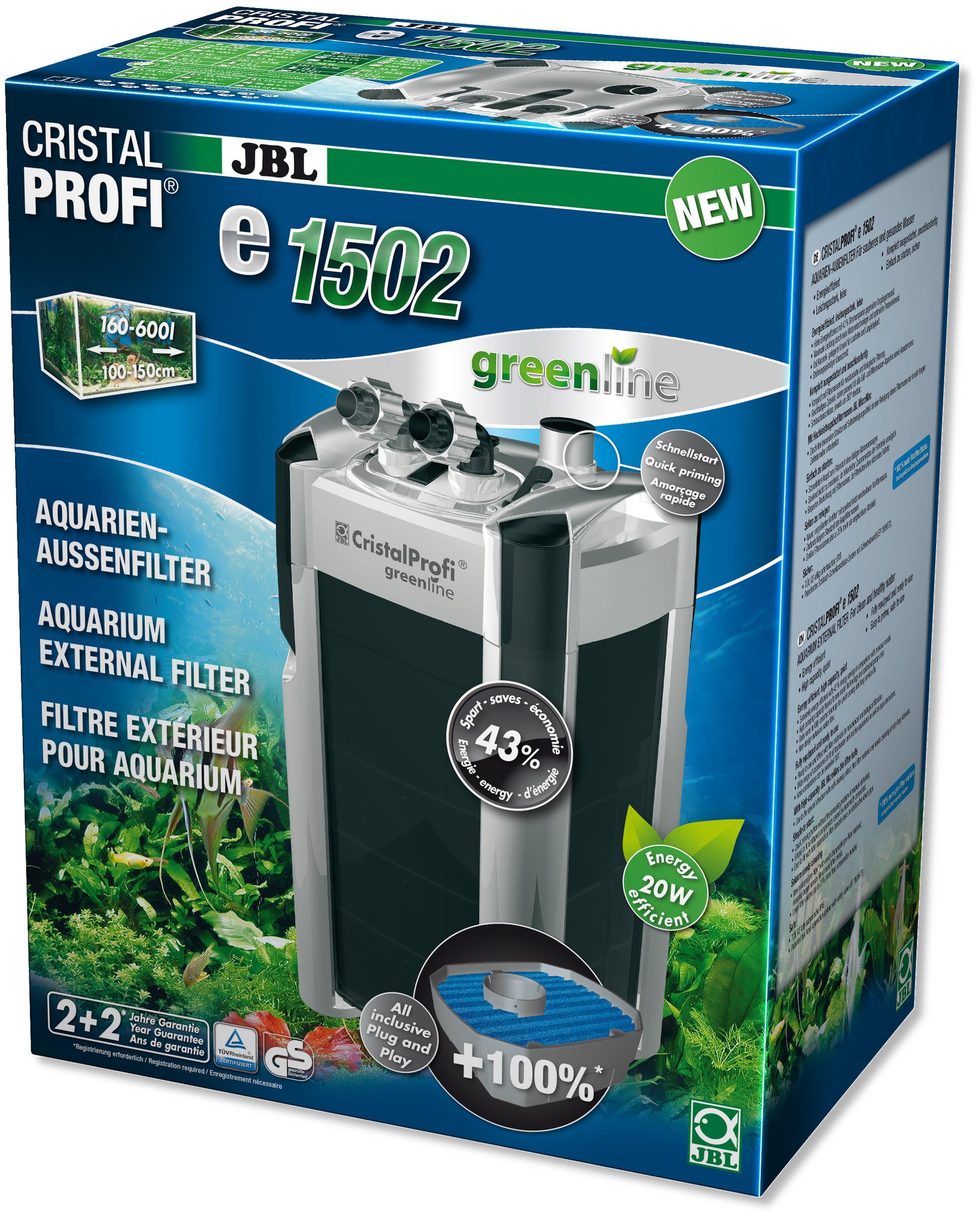 JBL CristalProfi e1502 greenline filtre externe pour aquarium de 200 à 700 L