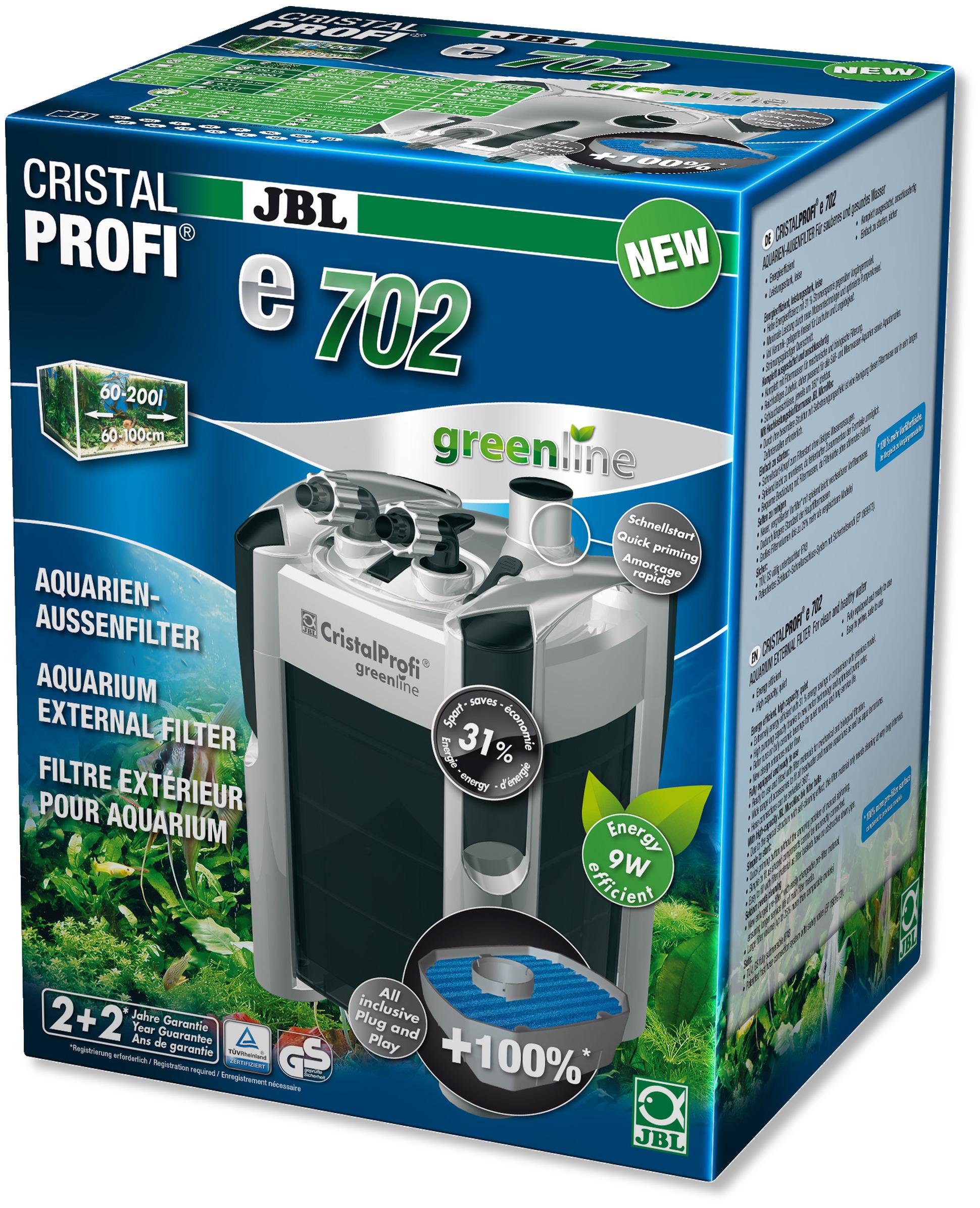 JBL CristalProfi e702 greenline filtre externe pour aquarium de 60 à 200 L
