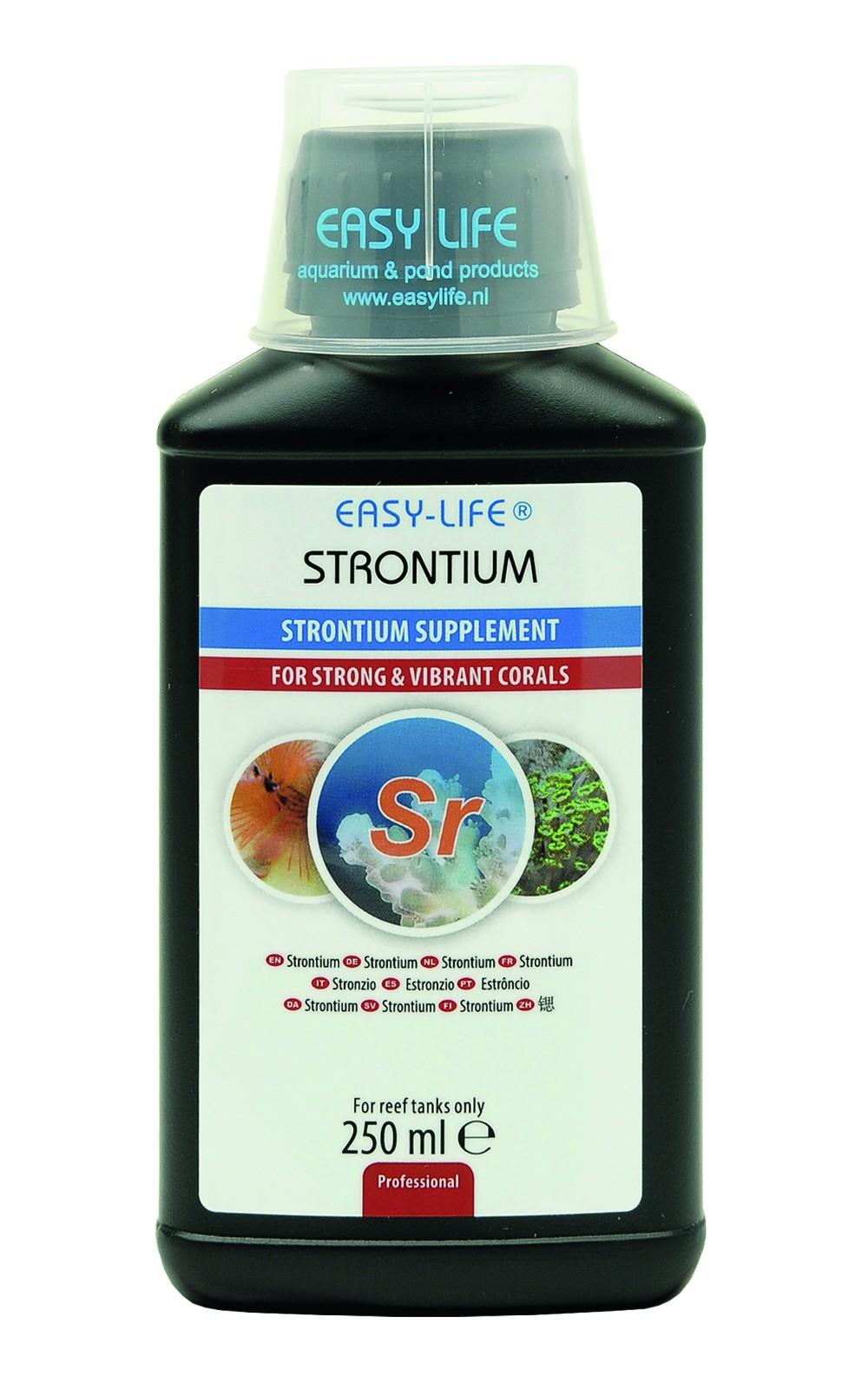 EASY-LIFE Strontium 250ml source de strontium concentrée et puissante pour des coraux sains et merveilleux