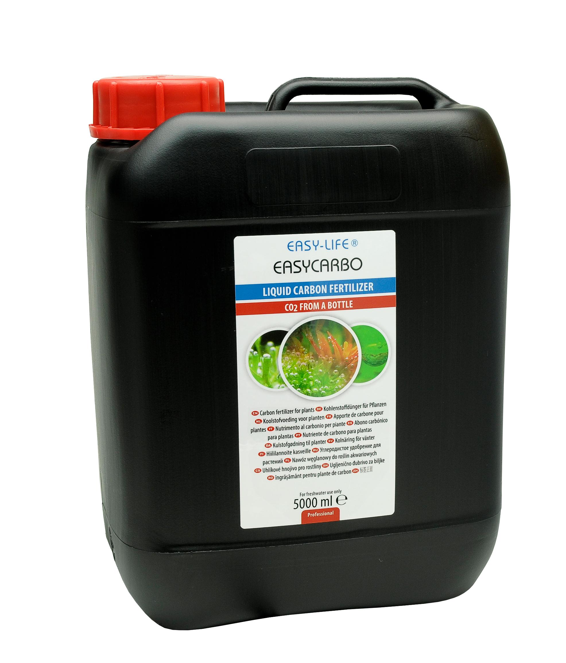 EASY-LIFE EasyCarbo 5L source de carbone liquide pour plantes d\'aquarium et aide à la lutte contre les algues.
