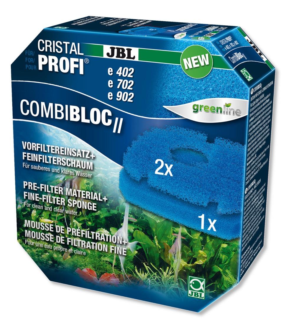 JBL CombiBloc 2 mousse de préfiltration pour filtres CristalProfi e402, e702 et e902 Greenline