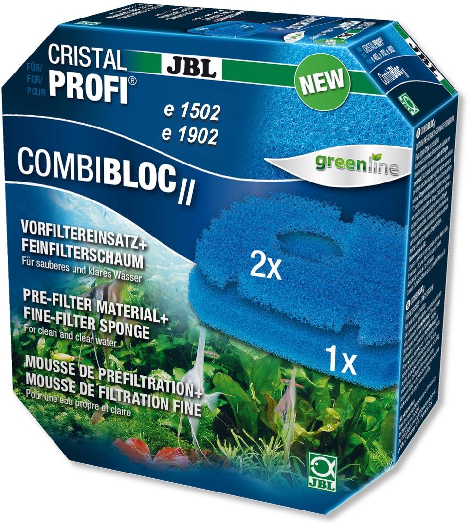 JBL CombiBloc 2 mousse de préfiltration pour filtres CristalProfi e1502 et e1902 Greenline