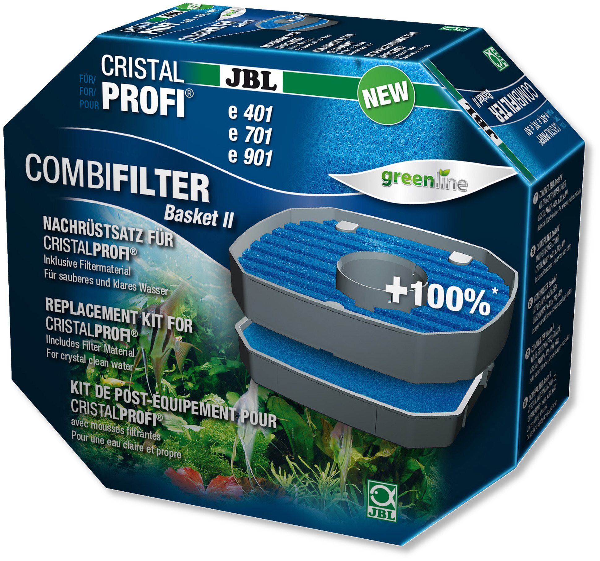 JBL Combi Filter Basket II panier de filtration optimisé pour filtres externes CristalProfi e700, e900, e401, e701, e901, e402, e702, e902