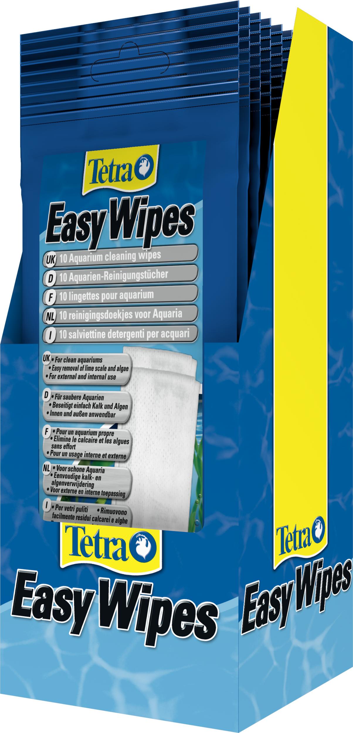 TETRA EasyWipes 10 lingettes de nettoyage tous supports pour utilisation dans l\'eau et hors de l\'eau