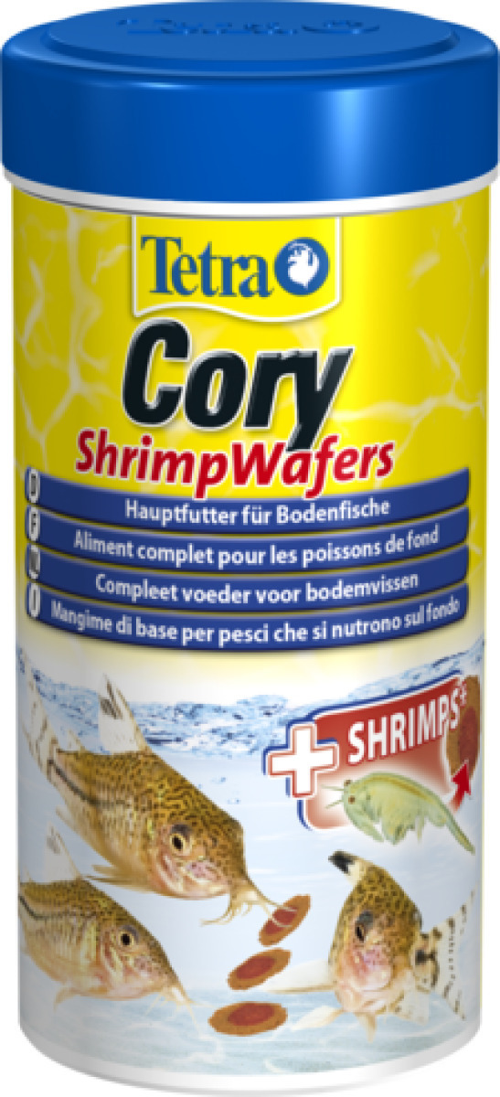 Tetra cory shrimpwafers 250 ml nourriture compl te for Nourriture du poisson