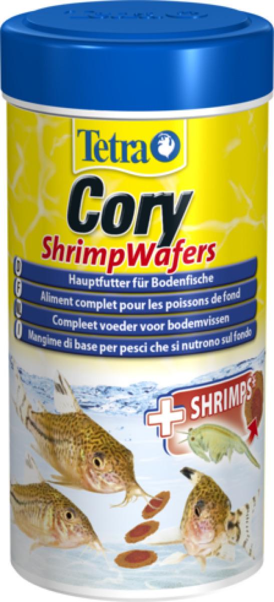 TETRA Cory ShrimpWafers 250 ml nourriture complète spéciale Corydoras et autres poissons de fond