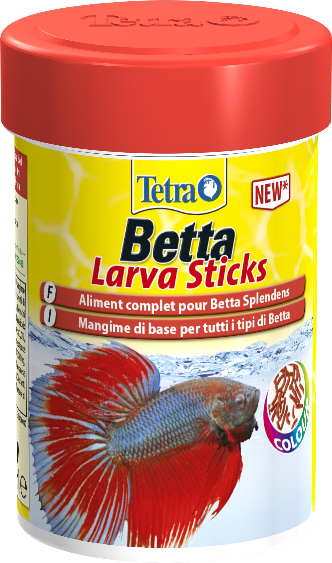 TETRA Betta LarvaSticks 85 ml nourriture complète sous forme de sticks pour combattants et autres Labyrinthidés