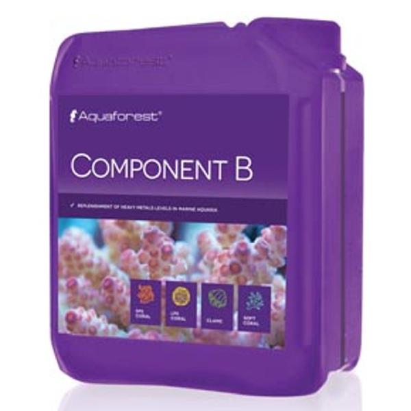 AQUAFOREST Component B 2 L permet de rétablir certains métaux lourds importants en aquarium récifal