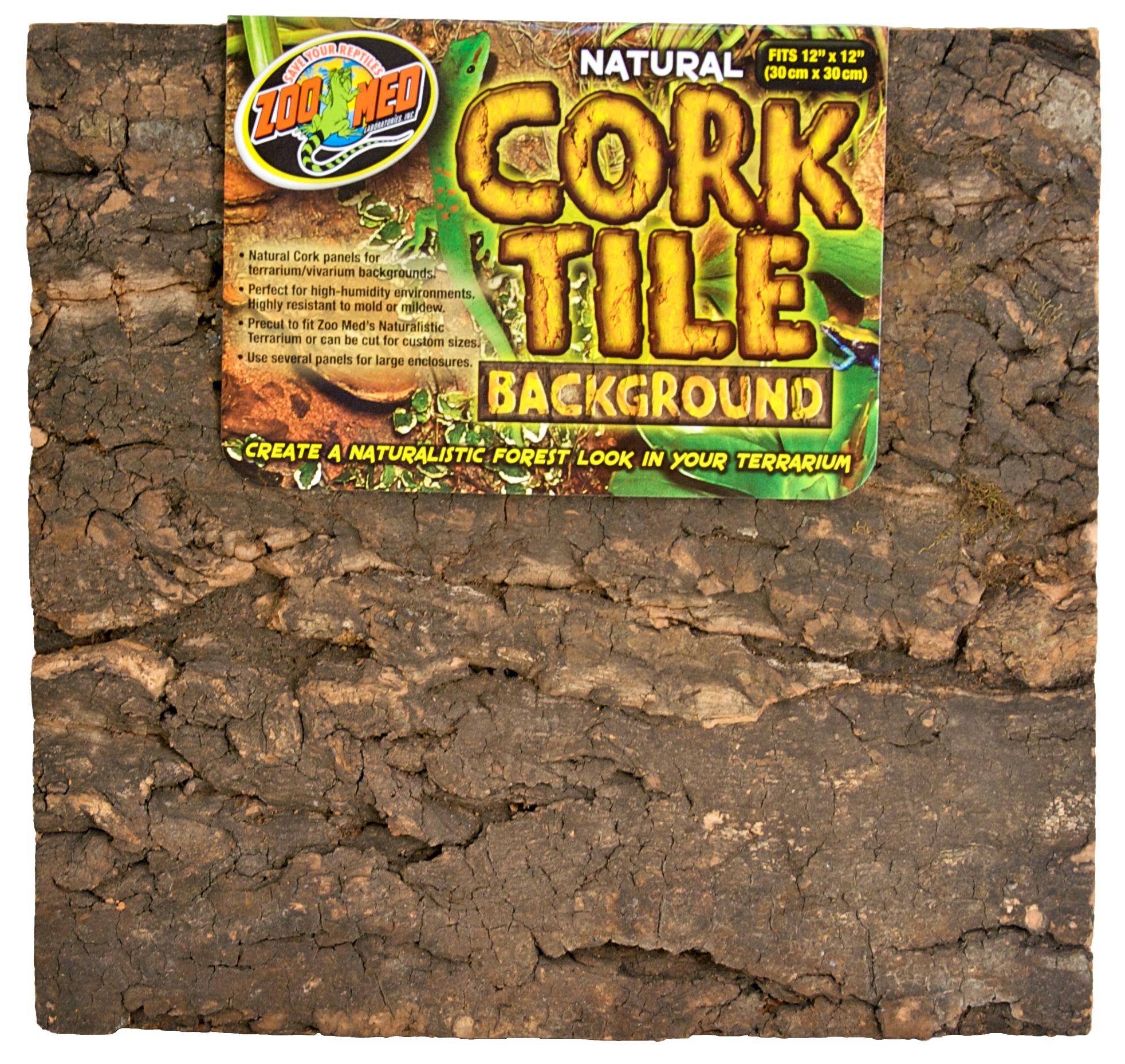 ZOOMED Cork Tile 30 x 30 cm panneau de fond en liège naturel pour terrarium et vivarium