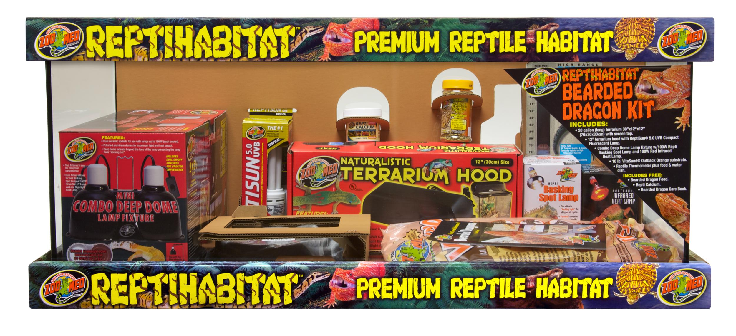 ZOOMED Kit ReptiHabitat Pogona NTB21V kit terrarium complet 76 x 30 x 30 cm