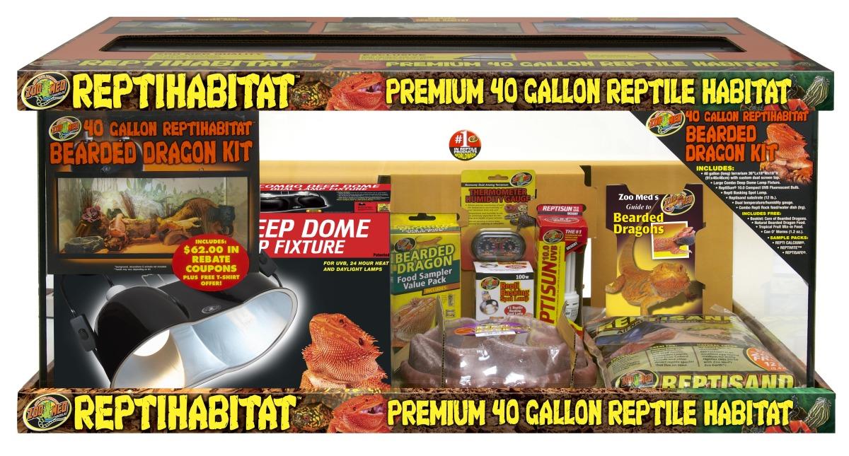 ZOOMED Kit ReptiHabitat Pogona NTB40E kit terrarium complet 91 x 46 x 46 cm