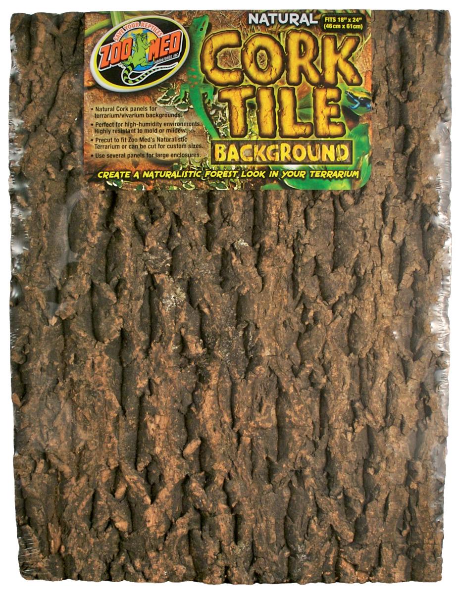 ZOOMED Cork Tile 45 x 61 cm panneau de fond en liège naturel pour terrarium et vivarium