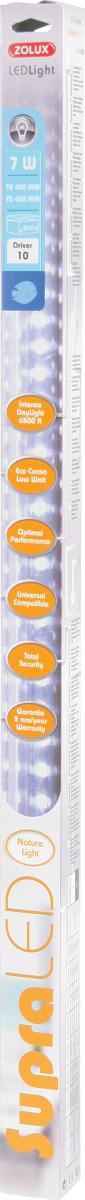 ZOLUX SupraLED 395 tube Leds Eau Douce 7W 6500°K pour aquarium jusqu\'à 60 cm ou remplace T5 43,8 cm et T8 45 cm