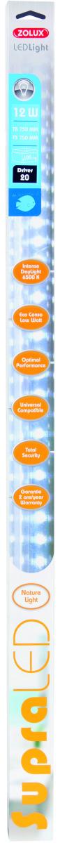 ZOLUX SupraLED 700 tube Leds Eau Douce 12W 6500°K pour aquarium jusqu\'à 100 cm ou remplace T5 74,2 cm et T8 75 cm