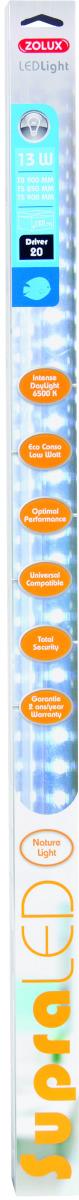 ZOLUX SupraLED 850 tube Leds Eau Douce 13W 6500°K pour aquarium jusqu\'à 120 cm ou remplace T5 85 cm et 89,5 cm ou T8 90 cm