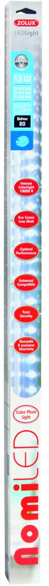 ZOLUX NomiLED 850 tube Leds Eau Douce 13W 10000°K pour aquarium jusqu\'à 120 cm ou remplace T5 85 cm et 89,5 cm ou T8 90 cm