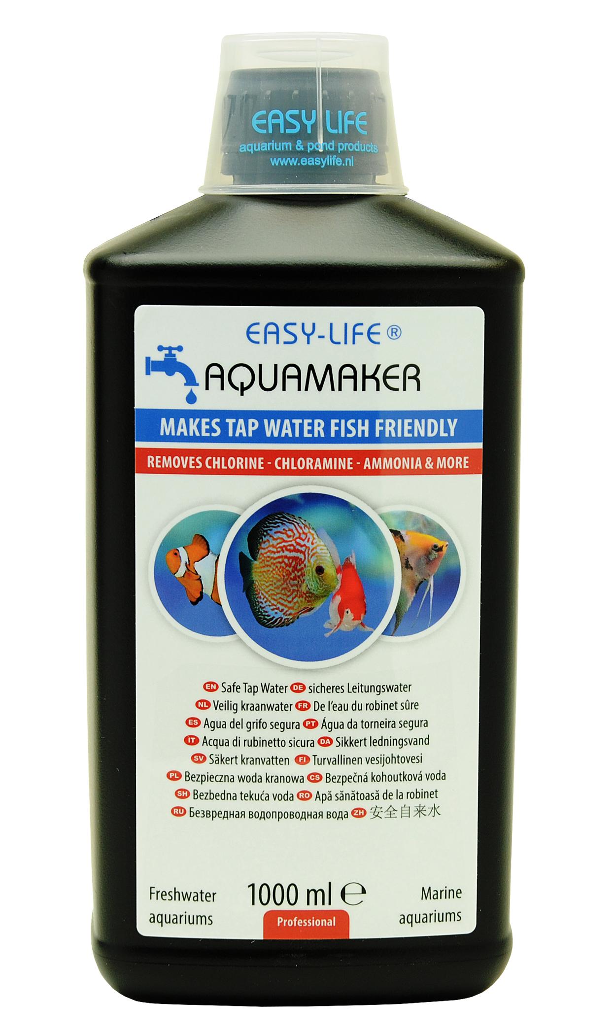 EASY-LIFE AquaMaker 1000 ml puissant conditionneur d\'eau à action rapide pour aquarium. Traite jusqu\'à 5000L