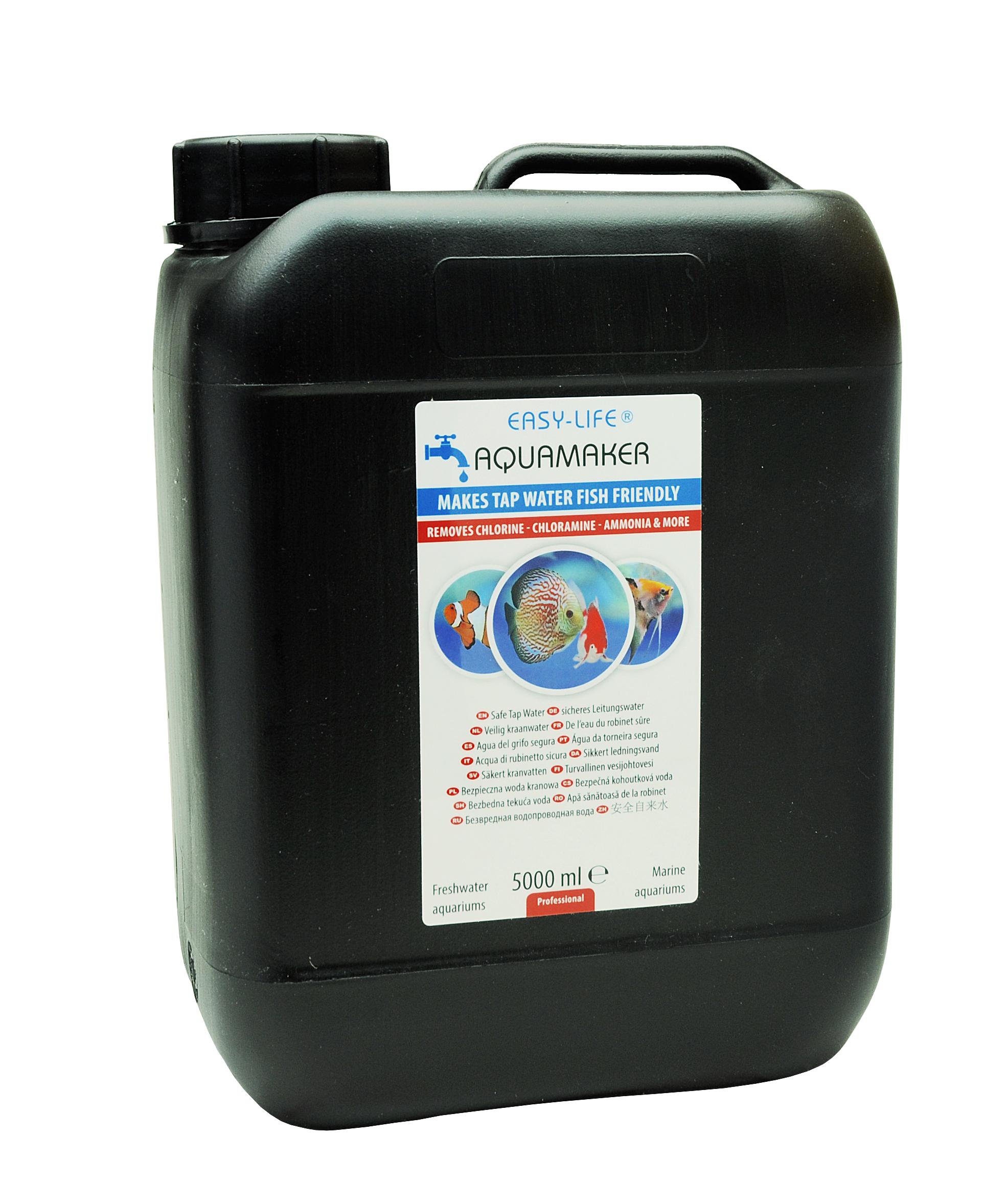 EASY-LIFE AquaMaker 5000 ml puissant conditionneur d\'eau à action rapide pour aquarium. Traite jusqu\'à 10000L