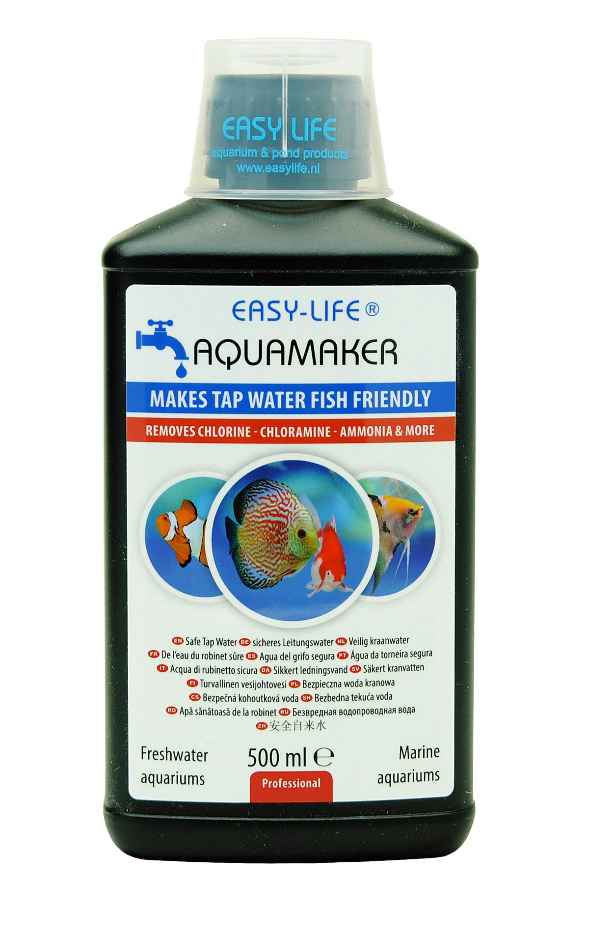 EASY-LIFE AquaMaker 500 ml puissant conditionneur d\'eau à action rapide pour aquarium. Traite jusqu\'à 2500L