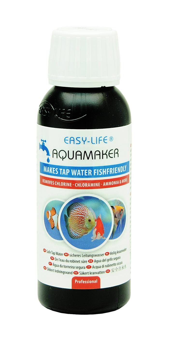 EASY-LIFE AquaMaker 100 ml puissant conditionneur d\'eau à action rapide pour aquarium. Traite jusqu\'à 500L