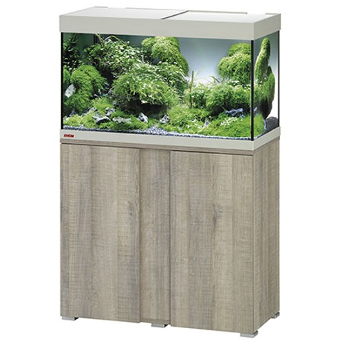 EHEIM-Vivaline-LED-126-L-ensemble-aquarium-equipe-80-cm-meuble-Chene-Gris