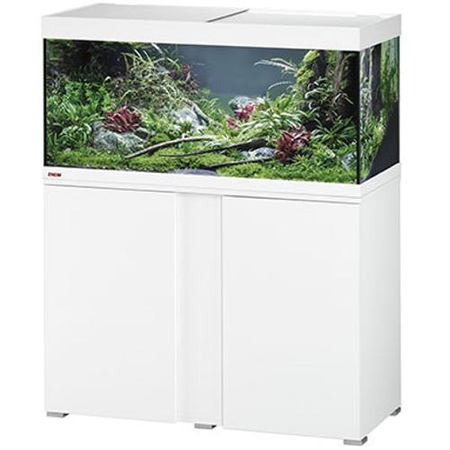 EHEIM Vivaline LED 180 L ensemble aquarium 100 cm avec meuble Blanc 17w, éclairage LEDs, chauffage et filtre interne BioPower 200