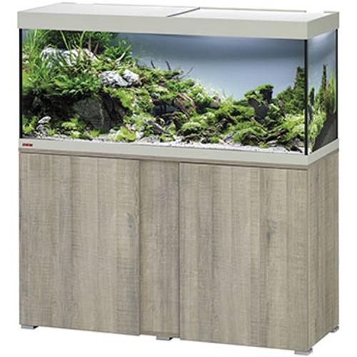 EHEIM Vivaline LED 240 L ensemble aquarium 120 cm avec meuble Chêne Gris, éclairage LEDs, chauffage et filtre externe Ecco Pro 300