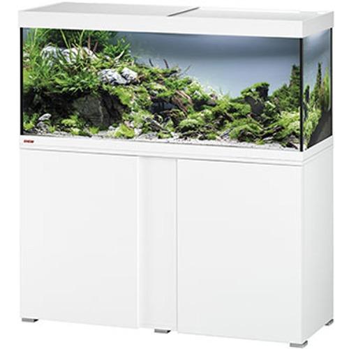 EHEIM Vivaline LED 240 L ensemble aquarium 120 cm avec meuble Blanc, éclairage LEDs, chauffage et filtre externe Ecco Pro 300