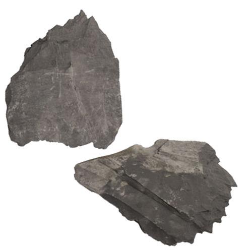AQUADECO Slate Black 1,4 à 1,6 Kg lot de 3 roches naturelles pour aquarium d\'eau douce et terrarium