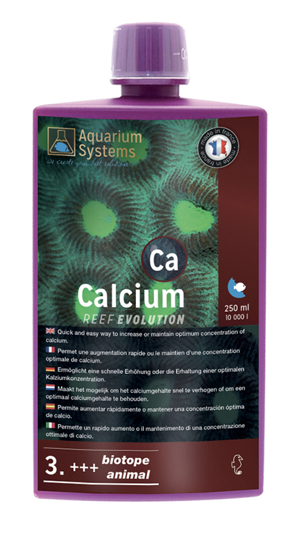 AQUARIUM SYSTEMS Calcium 3. +++ Biotope & Animals Reef Evolution 250 ml