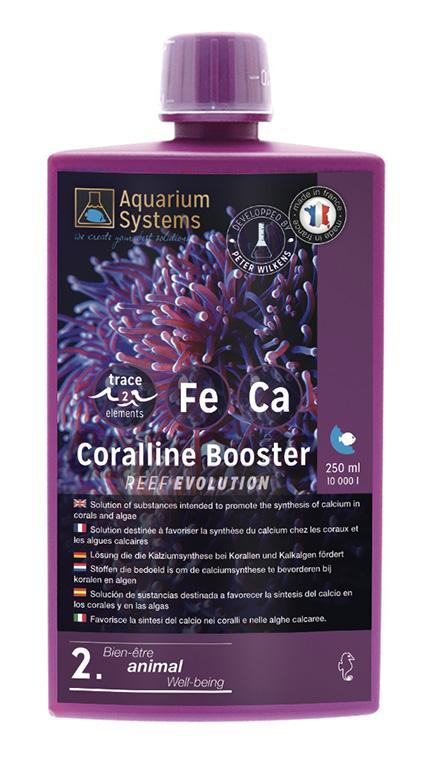 AQUARIUM SYSTEMS Extra 2 Coralline Booster 250 ml favorise la synthèse du Calcium des coraux et les algues calcaires