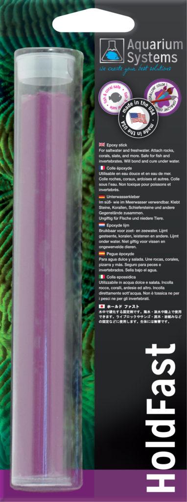 AQUARIUM SYSTEMS Hold Fast Violet colle époxy pour la fixation de coraux et de roches en aquarium récifal