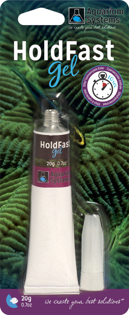 AQUARIUM SYSTEMS Hold Fast Gel 20 gr. colle glue pour collage de coraux ou de plantes d\'aquarium
