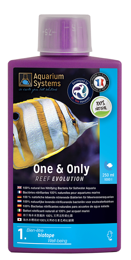 AQUARIUM SYSTEMS One & Only 250 ml contient 100% de bactéries nitrifiantes pour réguler l\'ammoniaque et le nitrite
