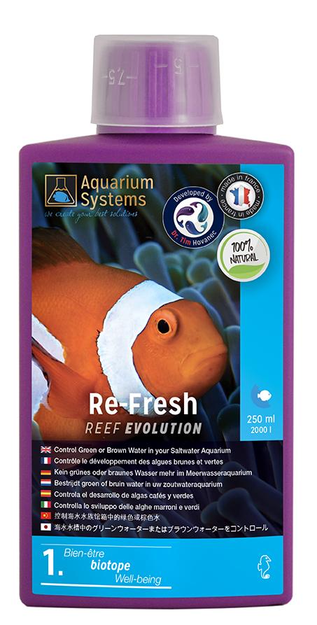 AQUARIUM SYSTEMS Re-Fresh 250 ml contrôle le développement des algues et Cyanobactéries en aquarium marin