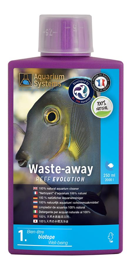 AQUARIUM SYSTEMS Waste-Away 250 ml nettoyant 100% naturel à base de bactéries pour aquarium marin