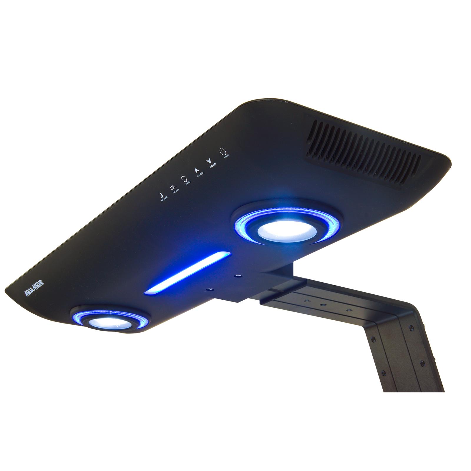 AQUA MEDIC angel LED 200 Noir rampe 96 LEDs haute puissance pour aquarium d\'eau de mer