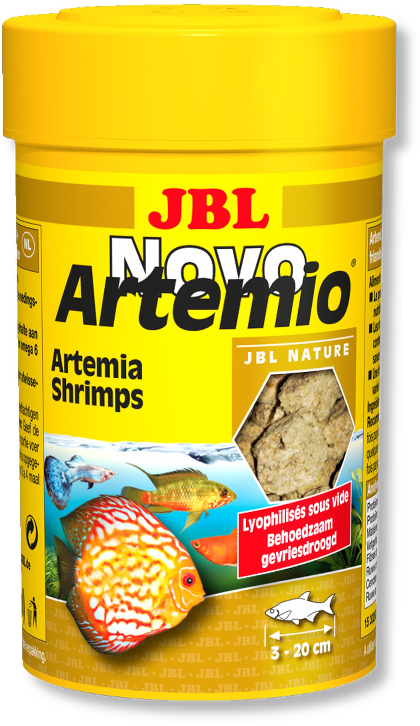 JBL NovoArtemio 100 ml artemias lyophilisées pour l\'alimentation des poissons d\'eau douce et d\'eau de mer