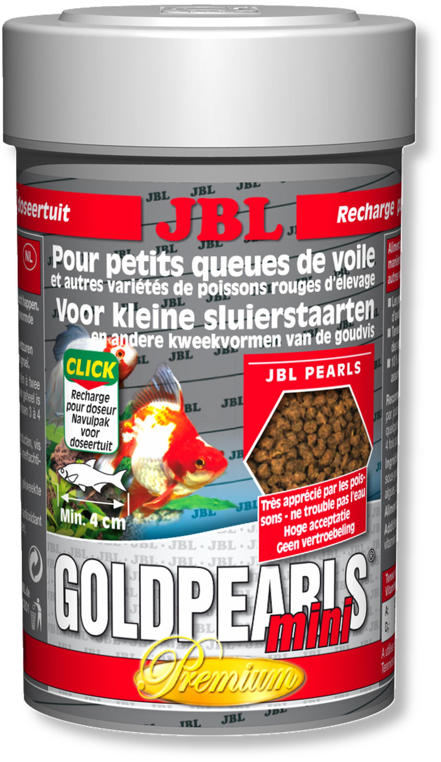 JBL GoldPearls Mini 100 ml mini granulés pour poissons d\'eau froide