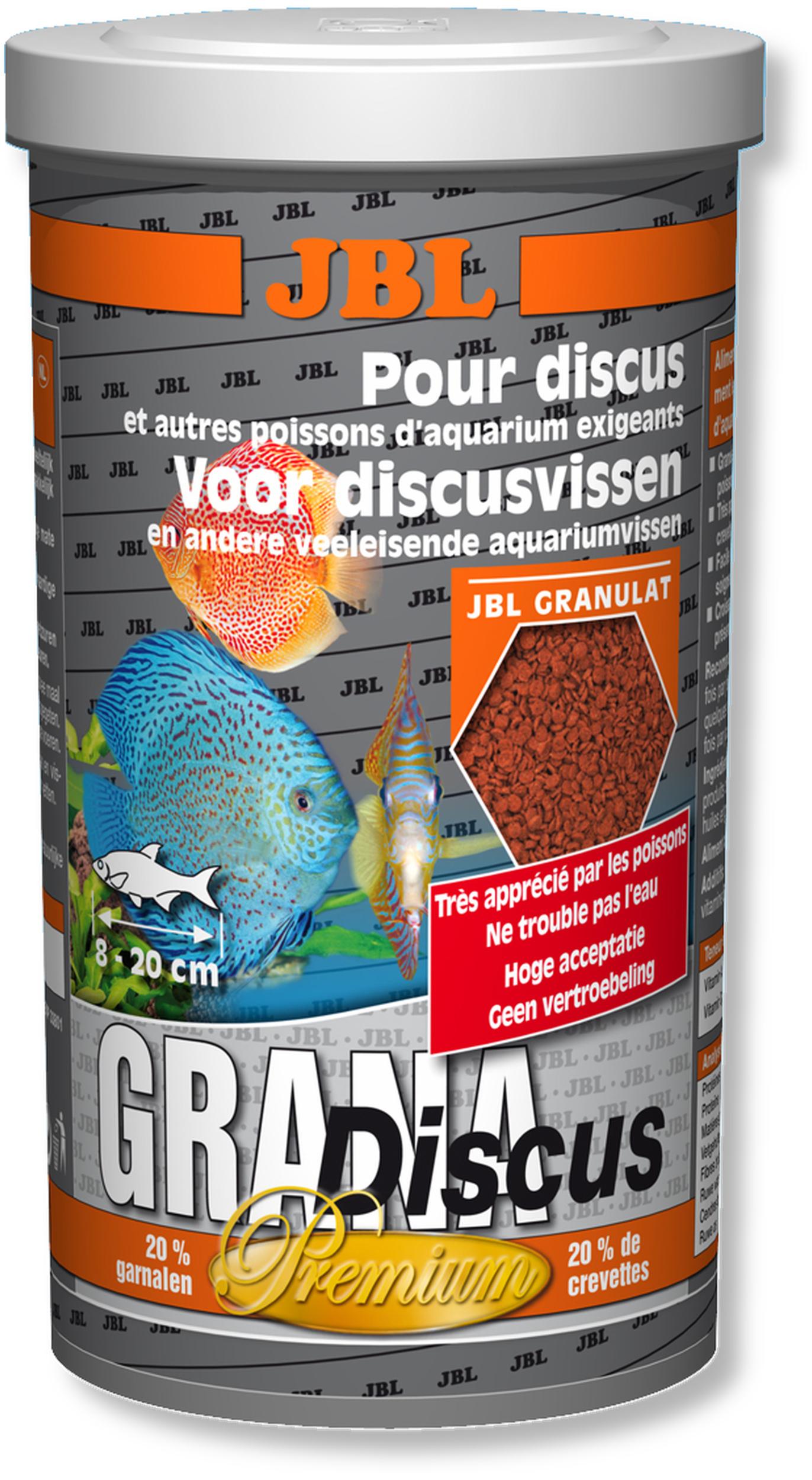 JBL Grana Discus 1 L nourriture prémium en granulés pour Discus