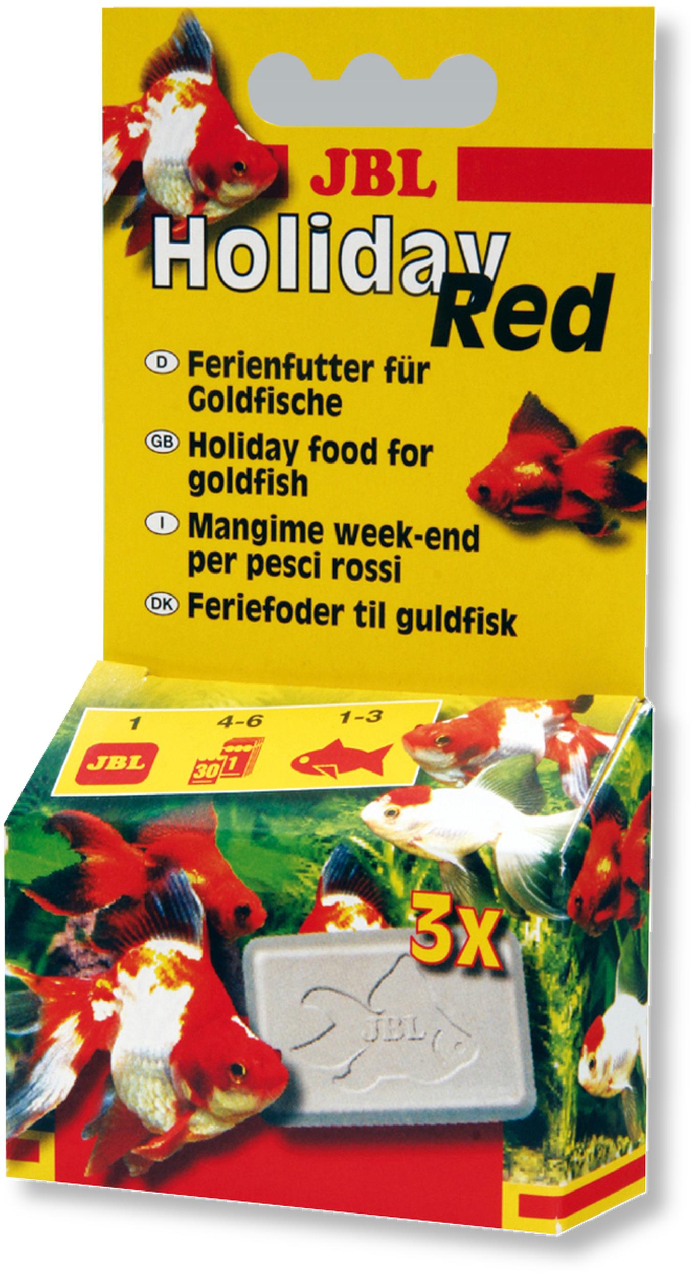 JBL Holiday Red 6 jours nourriture spéciale vacances pour poissons rouges