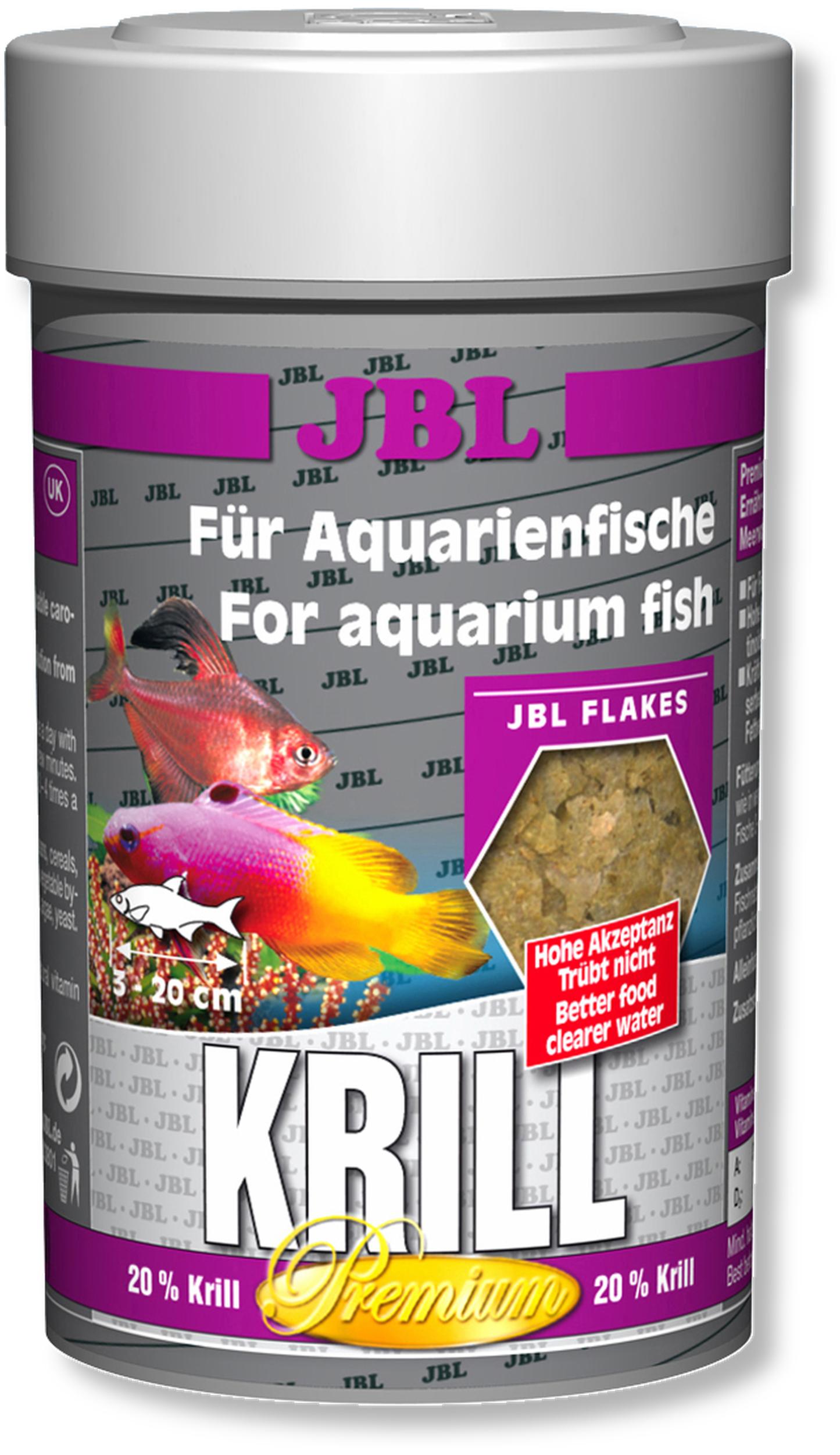 JBL Krill flocons de krill de qualité supérieure pour poissons d\'eau douce et eau de mer