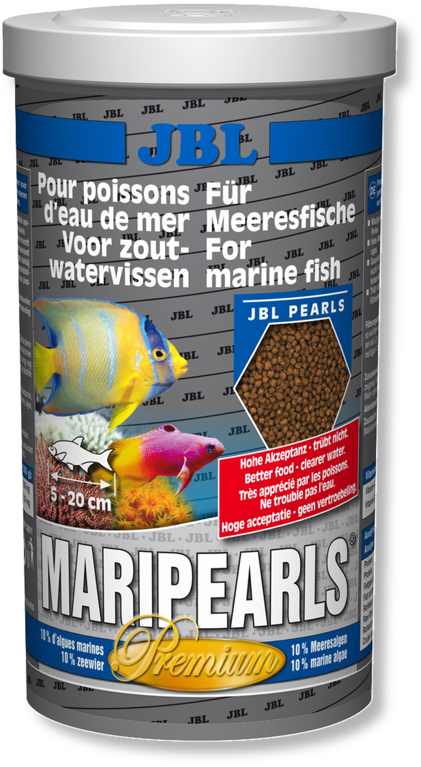 JBL MariPearls 1 L perles alimentaires de qualité supérieure pour animaux marins